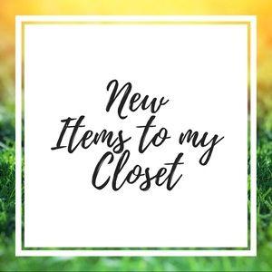 New items ahead!!!